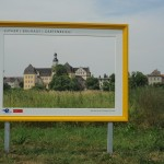 Blick auf das Schloss in Coswig