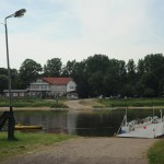 Gierfähre auf der Elbe